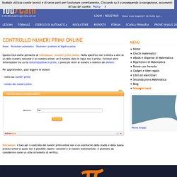 Controllo numeri primi online