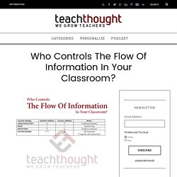 Who Controls The Flow Of Information In Your Classroom? -