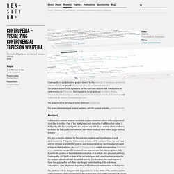 Contropedia – Visualizing controversial topics on Wikipedia