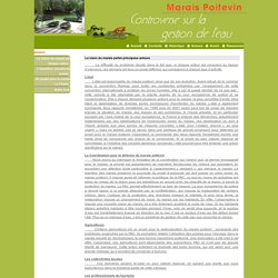 Controverse sur la gestion de l'eau dans le Marais Poitevin