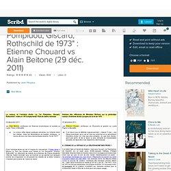 "Controverse ""loi Pompidou, Giscard, Rothschild de 1973"" : Etienne Chouard vs Alain Beitone (29 déc. 2011)"