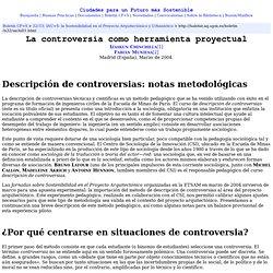 La controversia como herramienta proyectual