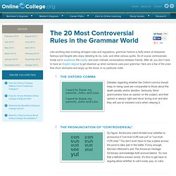 The 20 Most Controversial Rules in the Grammar World » Online College Search