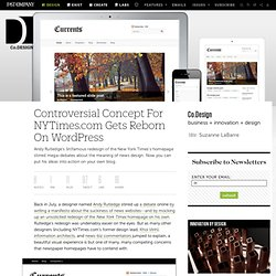 Controversial Concept For NYTimes.com Gets Reborn On WordPress | Co. Design