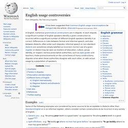 English usage controversies