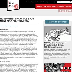 Museum Best Practices for Managing Controversy