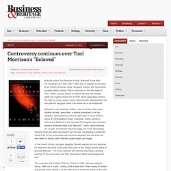 """Controversy continues over Toni Morrison's """"Beloved"""""""