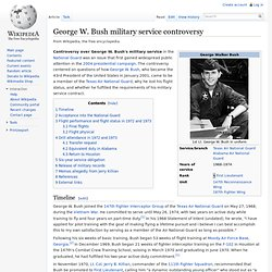 George W. Bush military service controversy