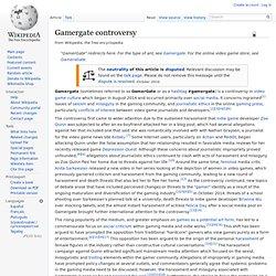 Gamergate controversy