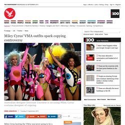 Miley Cyrus' VMA outfits spark copying controversy - News - Fashion - The Independent