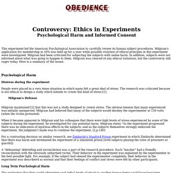 Controversy in Ethics of Obedience Research