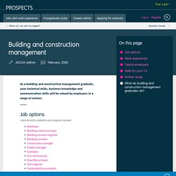 What can I do with a building and contruction management degree?
