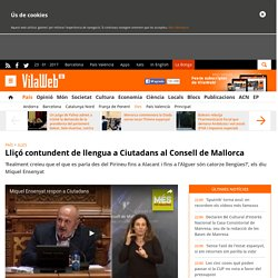 Ciutadans s'endú una lliçó contundent de llengua al Consell de Mallorca
