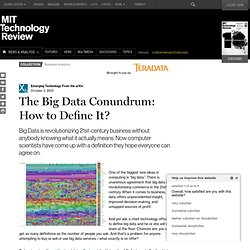 The Big Data Conundrum: How to Define It?