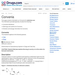Convenia for Animal Use - Drugs.com