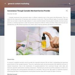 Convenience Through Cannabis Merchant Service Provider