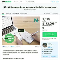 N2 – Writing experience as a pen with digital convenience by NeoLAB Sydney Studio