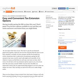 Easy and Convenient Tax Extension Options
