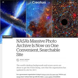 NASA's Massive Photo Archive Is Now on One Convenient, Searchable Site - Creators