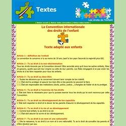 La Convention : texte adapté aux enfants