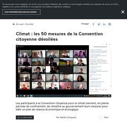 Climat: les 50 mesures de la Convention citoyenne dévoilées