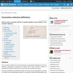 Convention collective (définition)