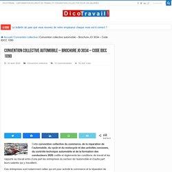 Convention collective automobile gratuite - JO 3034 - IDCC 1090