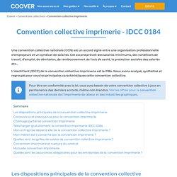 La convention collective de l'imprimerie de labeur et des industries graphiques (Mise à jour 2020)