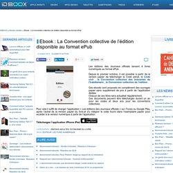Ebook : La Convention collective de l'édition disponible au format ePub