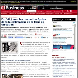 Forfait jours: la convention Syntec dans le collimateur de la Cour de cassation