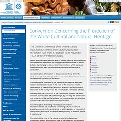 Convention Concerning the Protection of the World Cultural and Natural Heritage