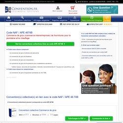 Code NAF / APE 4674B : Convention collective correspondante