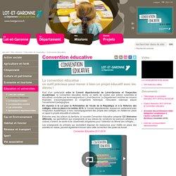 Convention éducative - Conseil départemental de Lot et Garonne