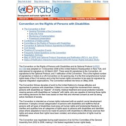 Enable - Convention on the Rights of Persons with Disabilities