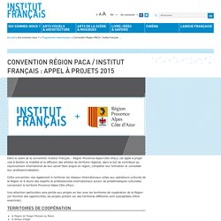 Convention Région PACA / Institut français : appel à projets 2014