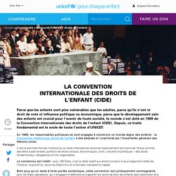 Les droits de l'enfant, et leur « Convention internationale »