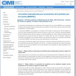 Convention internationale pour la prévention de la pollution par les navires (MARPOL)