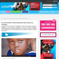 La Convention internationale des droits de l'enfant