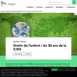 Droits de l'enfant : les 30 ans de la convention internationale CIDE