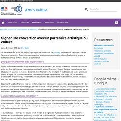 Signer une convention avec un partenaire artistique ou culturel