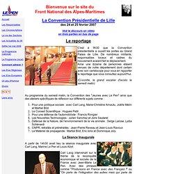 Convention présidentielle de Lille, 24 et 25 février 2007