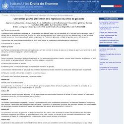 Convention pour la prévention et la répression du crime de génocide