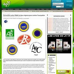 AGRI85 08/12/13 Convention entre l'INAO et deux régions pour contrer l'usurpation