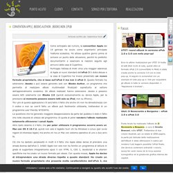 Convention Apple, iBooks Author: .ibooks non .epub « Punto acuto « Servizi per l'editoria