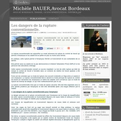 Les dangers de la rupture conventionnelle