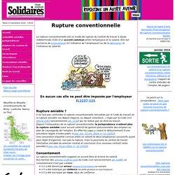 Rupture conventionnelle du contrat de travail - Conseiller du salarié