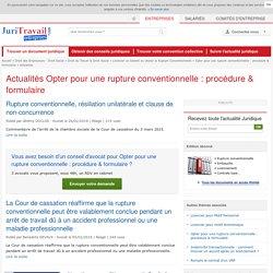Actualité Juridique Opter pour une rupture conventionnelle : procédure & formulaire