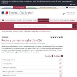 Rupture conventionnelle d'un CDI - professionnels