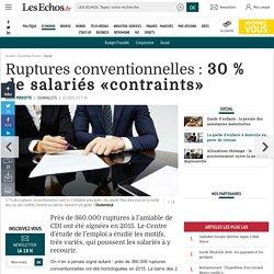 Ruptures conventionnelles: 30% de salariés «contraints», Social