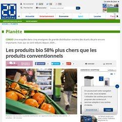 Les produits bio 58% plus chers que les produits conventionnels